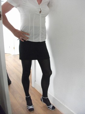 husband in tight skirt